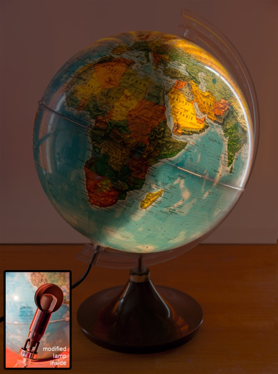 DIY globe light day night